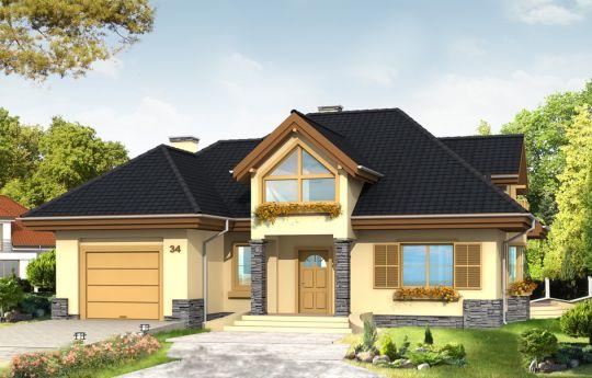 Projekt domu Maja - wizualizacja frontu