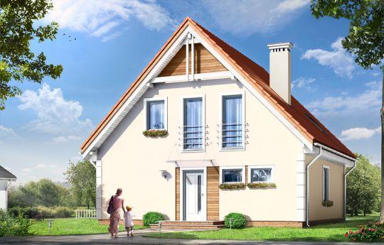 Проект дома Малгося - визуализация, вид спереди