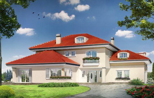 Проект дома Малибу -  вид спереди
