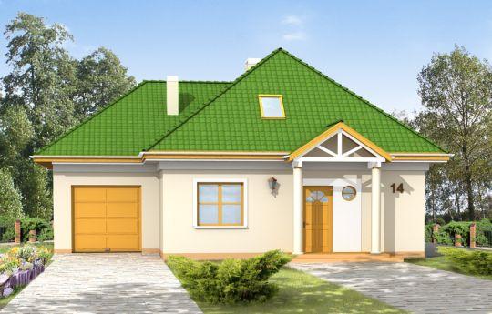 Projekt domu Mazurek 2 - wizualizacja frontu