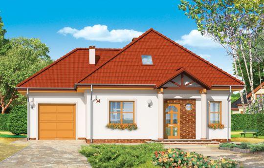 Проект дома Мазурек 3  - визуализация, вид спереди
