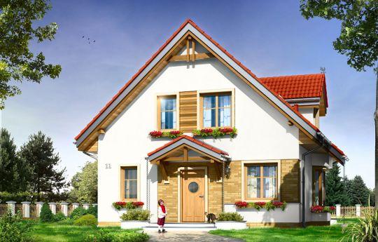 Projekt domu Michalina - wizualizacja frontu