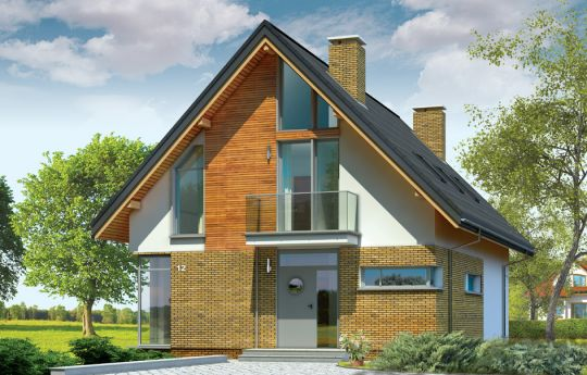 Проект дома Городской - визуализация, вид спереди