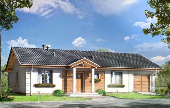 Проект дома Милусь - визуализация, вид спереди
