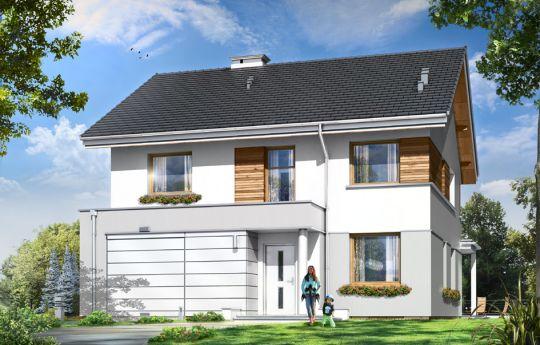 Проект дома Миранда  - визуализация, вид спереди