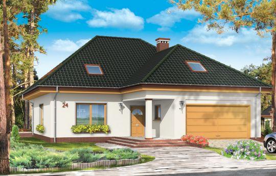 Projekt domu Natalia 2 - wizualizacja frontu
