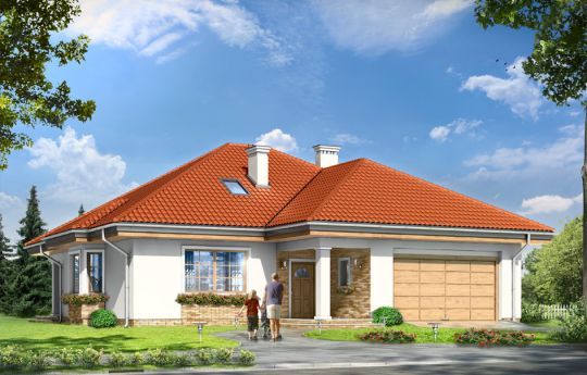 Проект дома Наталия 3 - визуализация, вид спереди