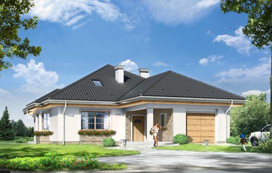 Проект дома Наталия 4 - визуализация, вид спереди