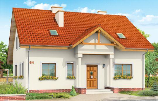 Проект дома На Общей - визуализация, вид спереди