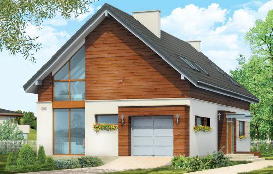 Проект дома Современный 2  - визуализация, вид спереди