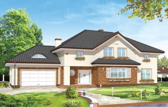 Проект дома Оказалый - визуализация, вид спереди