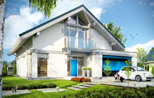 Проект дома Открытый 2 - визуализация, вид спереди