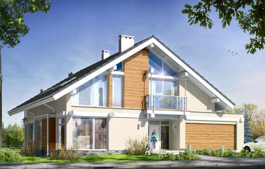 Проект дома Открытый - визуализация, вид спереди