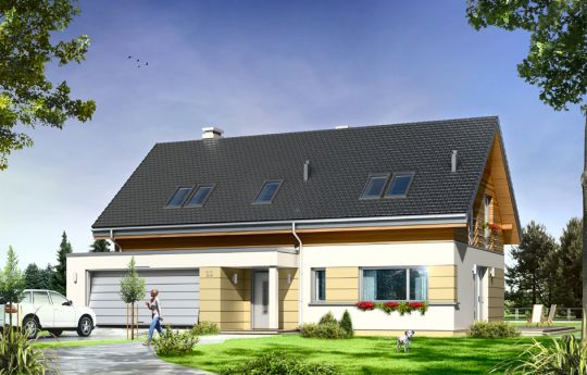 Проект дома Пати - визуализация, вид спереди