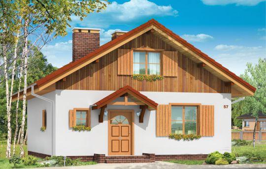 Проект дома Блошка - визуализация, вид спереди