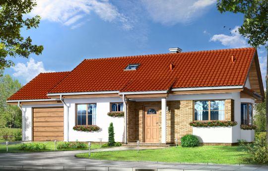 Проект дома Перелка 2 - визуализация, вид спереди