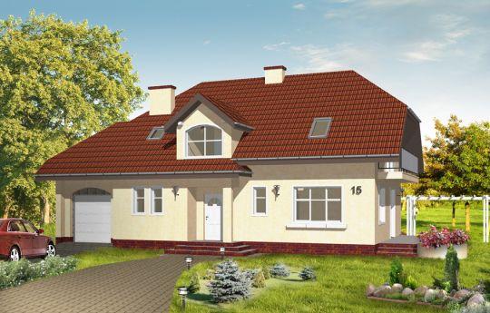 Projekt domu Pogodny 3 - wizualizacja frontu