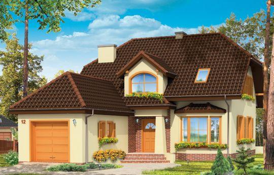 Projekt domu Pogodny 4 - wizualizacja frontu