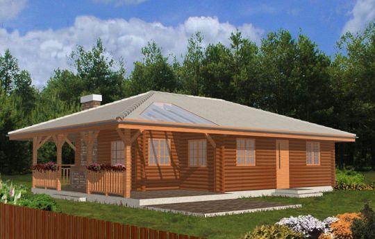 Проект дома Погодный Деревянный - визуализация, вид спереди