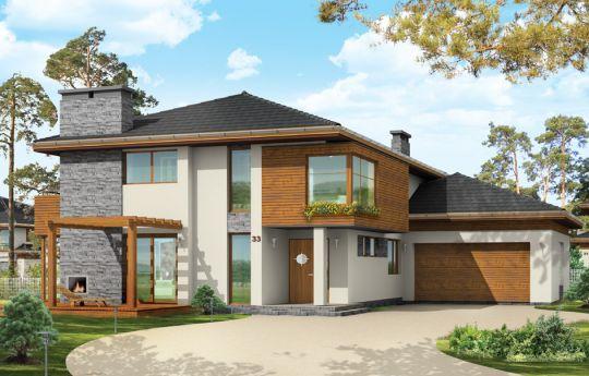 Проект дома Южный - визуализация, вид спереди