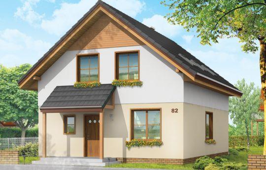Проект дома Практичный А - визуализация, вид спереди