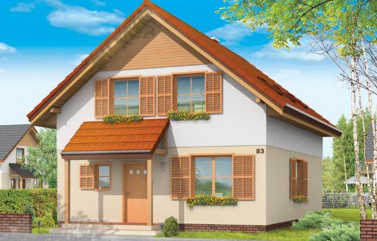 Projekt domu Praktyczny B - wizualizacja frontu