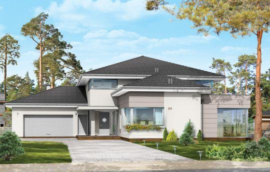 Проект дома Престижный - визуализация, вид спереди