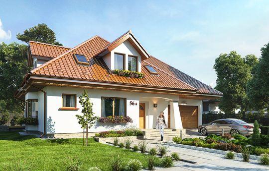 Projekt domu Agnieszka 3 - wizualizacja frontu