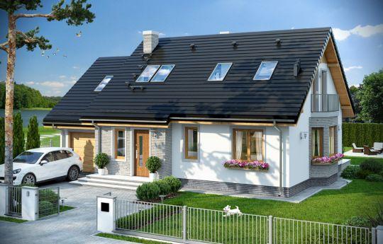 Projekt domu Bryza 5 - wizualizacja frontu