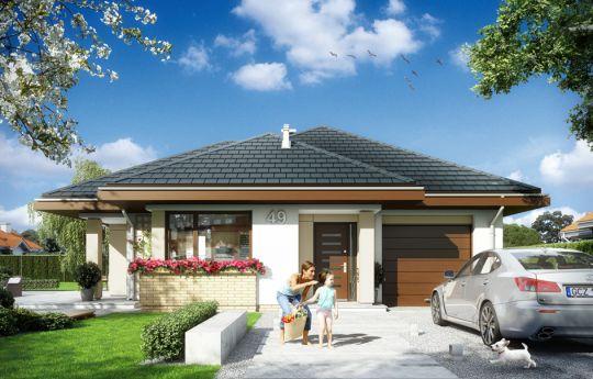 Projekt domu Dom na miarę - wizualizacja frontu