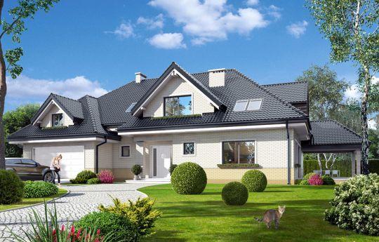 Projekt domu Joanna 2 - wizualizacja frontu