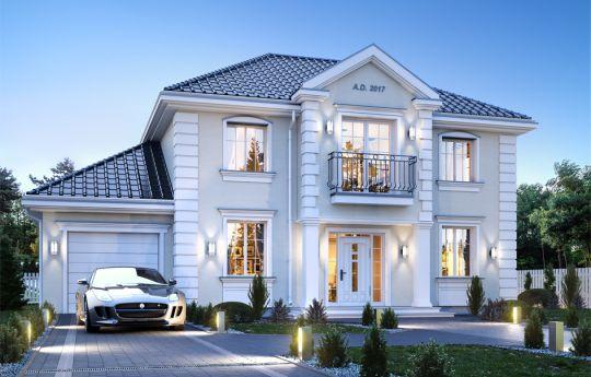 Projekt domu Magnat 3 - wizualizacja frontu