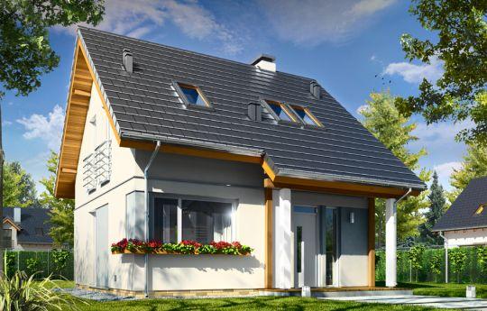 Проект дома Микрус - визуализация, вид спереди