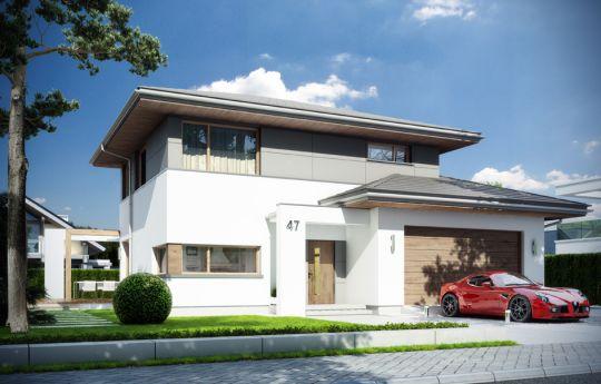 Проект дома Модена  - визуализация, вид спереди