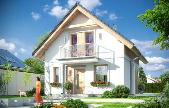 Проект дома Оленька - визуализация, вид спереди