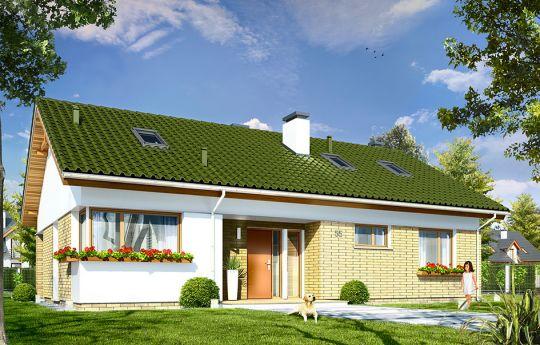 Projekt domu Oliwka 2 - wizualizacja frontu