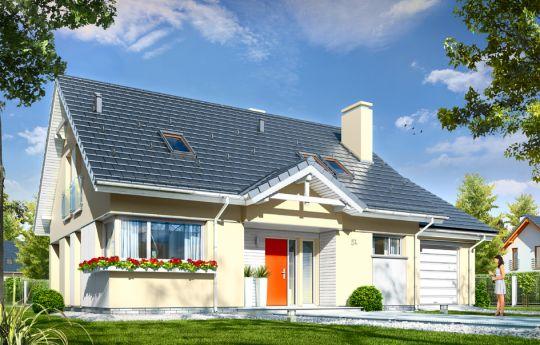 Проект дома Оптимальный 2 - визуализация, вид спереди