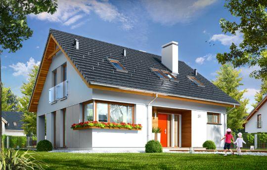 Проект дома Оптимальный - визуализация, вид спереди