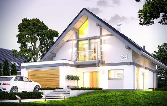 Projekt domu Otwarty 4 - wizualizacja frontu
