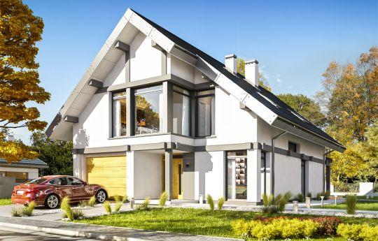 Projekt domu Otwarty 5 - wizualizacja frontu