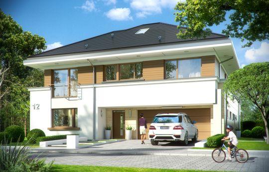 Проект дома Лесная Резиденция - вид спереди