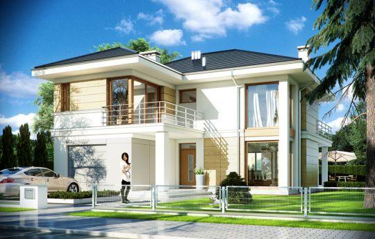 Проет дома Ривьера 2 - визуализация, вид спереди