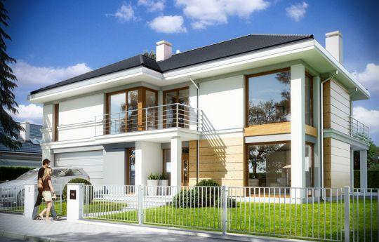 Проект дома Ривьера 3 - визуализация, вид спереди
