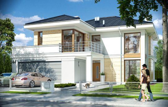 Projekt domu Riwiera 4 - wizualizacja frontu