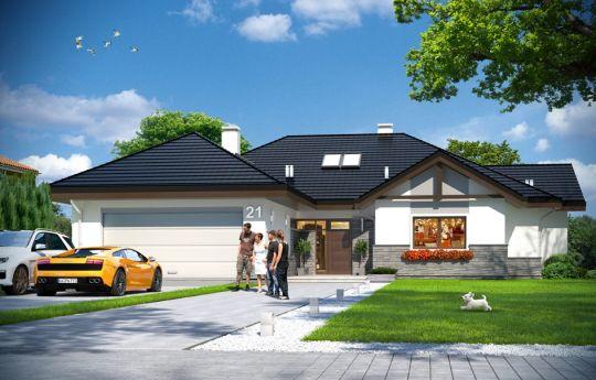 Проект дома Раскидистый 2 - вид спереди