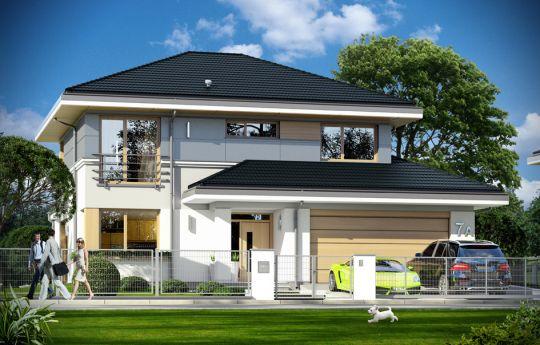 Projekt domu Sydney - wizualizacja frontu