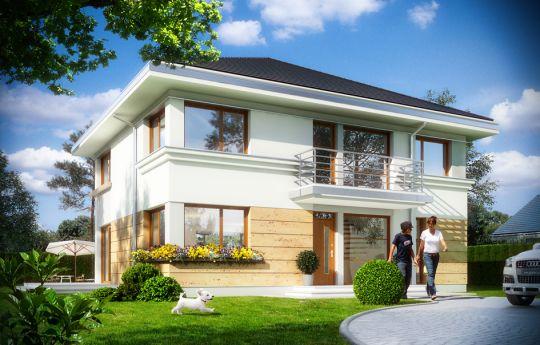 Projekt domu Szafir - wizualizacja frontu