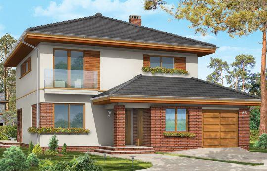 Проект дома Изумруд 3 - визуализация, вид спереди