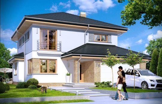 Projekt domu Szmaragd 4 - wizualizacja frontu