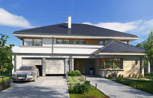 Projekt domu Willa komfortowa - wizualizacja frontu